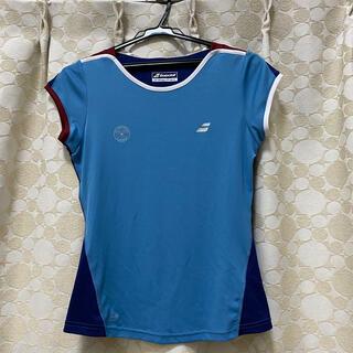 バボラ(Babolat)のバボラ レディース  テニスシャツ ウィンブルドンロゴ Sサイズ(ウェア)