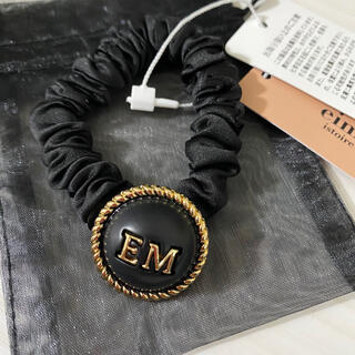 エイミーイストワール(eimy istoire)のEM pearlヘアゴム  ❤︎ BLACK(ヘアゴム/シュシュ)