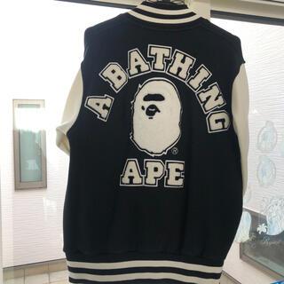 アベイシングエイプ(A BATHING APE)の【美品】エイプ☆アベイシングエイプ☆ A BATHING APE☆スタジャン(スタジャン)