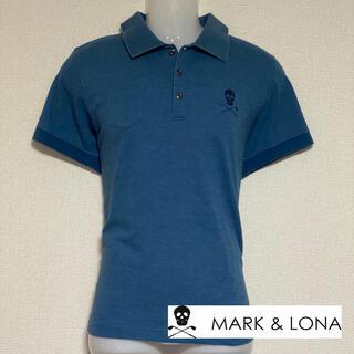 マークアンドロナ(MARK&LONA)のMARK&LONA マーク&ロナ 鹿の子ポロ メンズXL  ブルー(ウエア)