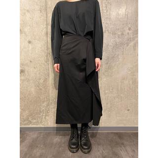 ヨウジヤマモト(Yohji Yamamoto)のヨウジヤマモト ウールギャバ 段違い ラッフルロングスカート #[760] (ロングスカート)