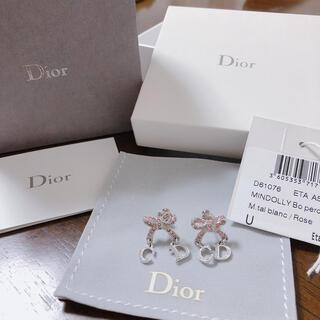 クリスチャンディオール(Christian Dior)のクリスチャンディオール♡DIOR リボン ピアス(ピアス)