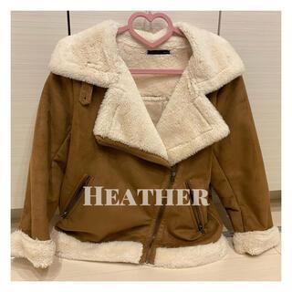 ヘザー(heather)の♡ ライダースボアジャケット ♡(ライダースジャケット)