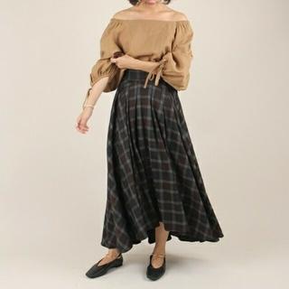 ランダ(RANDA)の新品タグ付きボリュームフレアスカート(ロングスカート)