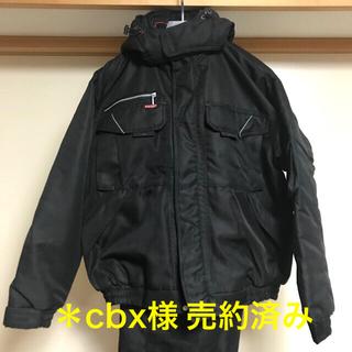 アイトス(AITOZ)のTULTEX 作業着 防寒ブルゾン 防寒パンツ 上下セット 黒 Lサイズ(ブルゾン)