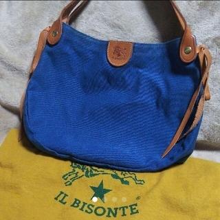 イルビゾンテ(IL BISONTE)の再値下げ イルビゾンテ ラウンドリボンキャンバスバッグ(トートバッグ)