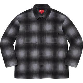 シュプリーム(Supreme)の黒 M Supreme Shadow Plaid Fleece Shirt 新品(シャツ)