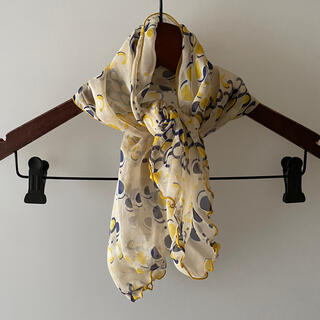 ミッシェルクラン(MICHEL KLEIN)のmichel klein ミッシェルクラン スカーフ 黄色 イエロー(バンダナ/スカーフ)