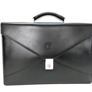ロエベ(LOEWE)のLOEWE(ロエベ) ビジネスバッグ - 黒 レザー(ビジネスバッグ)