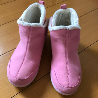 クロックス(crocs)の女児 クロックス ブーツ ピンク J3 (ブーツ)