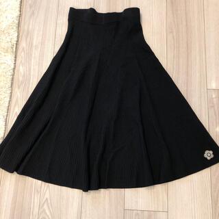 マリークワント(MARY QUANT)の専用☆ほぼ新品 マリークワント スカート フレアー ロング ブラック  シフォン(ロングスカート)