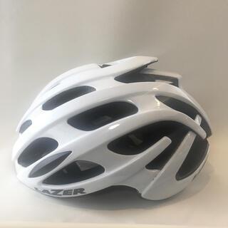 レイザー(LAZER)の【試着のみ・ほぼ新品】LAZER BLADE+ AF ホワイト・L【ヘルメット】(ヘルメット/シールド)