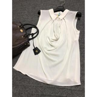 アナイ(ANAYI)のANAYI ブラウス アナイ ホワイト 白(シャツ/ブラウス(半袖/袖なし))