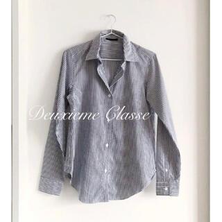 ドゥーズィエムクラス(DEUXIEME CLASSE)の未使用美品♡ドゥーズィエムクラス 2way ストライプカシュクールシャツ(シャツ/ブラウス(長袖/七分))