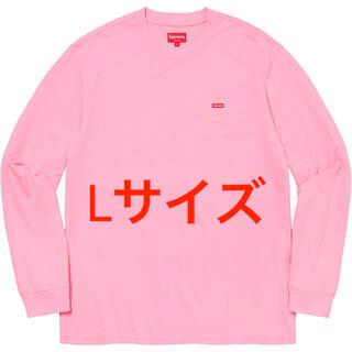 シュプリーム(Supreme)の【Lサイズ】Supreme small Box Tee ピンク(Tシャツ/カットソー(七分/長袖))