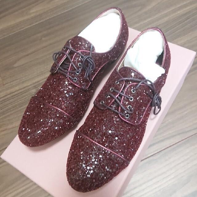 miumiu(ミュウミュウ)の【クリスマスsale】miumiu  レースアップシューズ レディースの靴/シューズ(ローファー/革靴)の商品写真