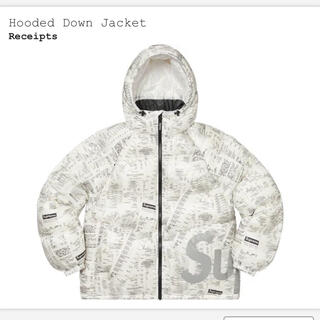 シュプリーム(Supreme)のsupreme Hooded Down Jacket 白 レシート S(ダウンジャケット)