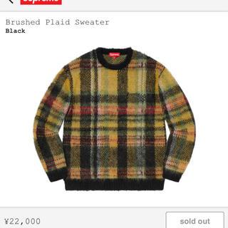 シュプリーム(Supreme)のSupreme brushed plaid sweater(ニット/セーター)