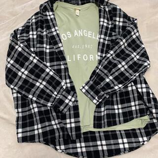 ベルシュカ(Bershka)のチェックシャツTシャツセット(シャツ/ブラウス(長袖/七分))