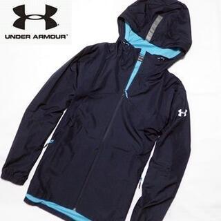 UNDER ARMOUR - 新品 アンダーアーマー フーデッドジャケット コールドギア 撥水加工 紺 L