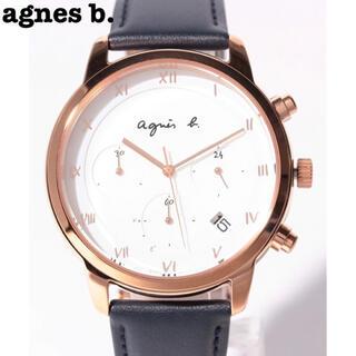 アニエスベー(agnes b.)の【美品25%OFF】アニエスベー 腕時計 白 箱・保証書付き(腕時計(アナログ))