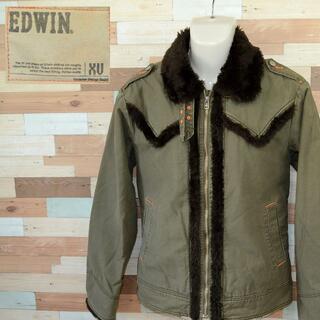 エドウィン(EDWIN)の【EDWIN XV】 美品 エドウィン 裏ボアカーキジャケット サイズL(ブルゾン)