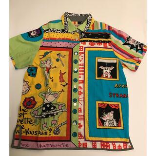 オレボレブラ アルベロベロ アロハ シャツ 総柄 豚 カラフル AC16(シャツ/ブラウス(半袖/袖なし))