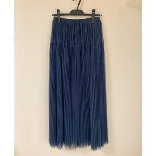 ドロシーズ(DRWCYS)の【新品未使用タグ付き】DRWCYS チュールプリーツスカート(ロングスカート)