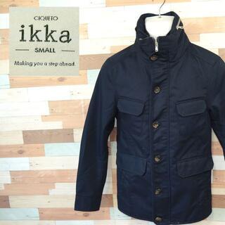 イッカ(ikka)の【ikka】 美品 イッカ ブラックブルゾン ポリエステル35% サイズS(ブルゾン)
