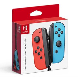 ニンテンドースイッチ(Nintendo Switch)のJoy-Con(L) ネオンレッド/(R) ネオンブルー 新品(家庭用ゲーム機本体)