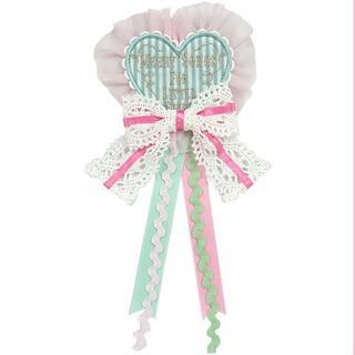 アンジェリックプリティー(Angelic Pretty)のMelody Toys メロディトイズ ハートワッペンブローチ(ブローチ/コサージュ)