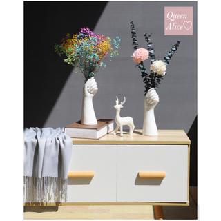 【新品】ハンドモチーフ フラワーベース 花瓶 生花 フランフラン 北欧 韓国(花瓶)