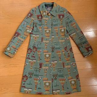 ジェーンマープル(JaneMarple)の【美品】JaneMarple ゴブラン織りコート ベネチアングラス 日本製(ロングコート)