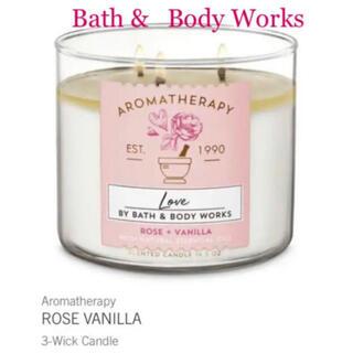 バスアンドボディーワークス(Bath & Body Works)のバスアンドボディワークス 新品3芯アロマテラピーキャンドル(アロマ/キャンドル)