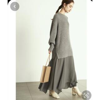 Mila Owen - 新品未使用タグ付き☆ミラオーウェン畔ニットセットアップワンピース☆