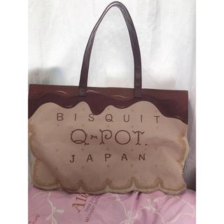 キューポット(Q-pot.)の【お値下】Qpot トートバッグ(トートバッグ)