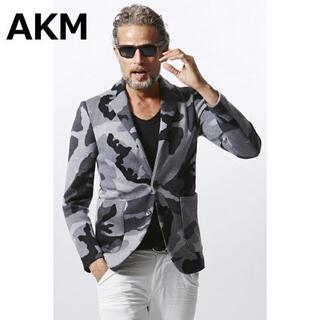 エイケイエム(AKM)のAKM エーケーエム エイケイエム CASHWOOL CAMO 2B JKT(テーラードジャケット)