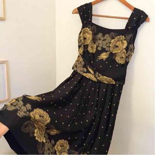 スーナウーナ(SunaUna)の定価35000新品コブランドレスワンピ(ミディアムドレス)