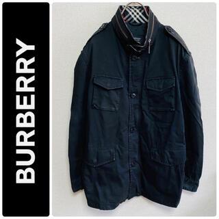 バーバリーブラックレーベル(BURBERRY BLACK LABEL)の一点物 BURBERRY BLACK LABEL 騎士ロゴ ミリタリージャケット(ミリタリージャケット)