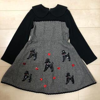 シャーリーテンプル(Shirley Temple)のシャーリーテンプル フォーマル ワンピース 130 プードル スパンコール ラメ(ドレス/フォーマル)
