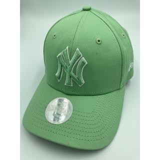 ニューエラー(NEW ERA)のニューエラ キャップ NY ヤンキース 緑 ミント グリーン woman カーキ(キャップ)
