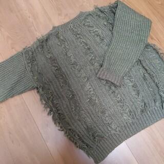 マーキーズ(MARKEY'S)のカーキ色のセーター(ニット/セーター)