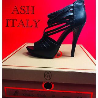 アッシュ(ASH)の美品 ASH グラディエーターサンダル レザー 36黒(サンダル)
