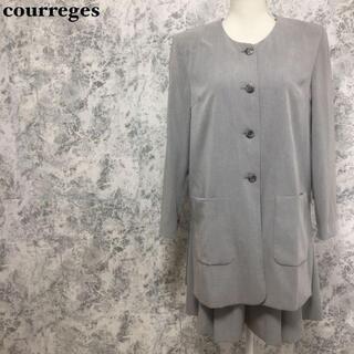 クレージュ(Courreges)のクレージュ ノーカラージャケット キュロットスカート セットアップスーツ M(スーツ)