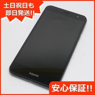 シャープ(SHARP)の超美品 au SHV35 AQUOS U ブラック (スマートフォン本体)