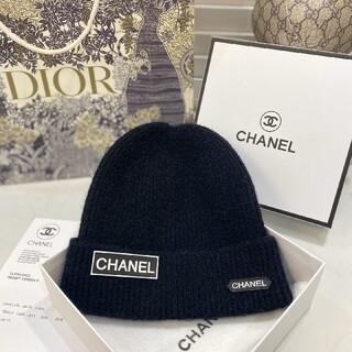 シャネル(CHANEL)の新商品未使用のCHANELニット帽 ブラック(ニット帽/ビーニー)