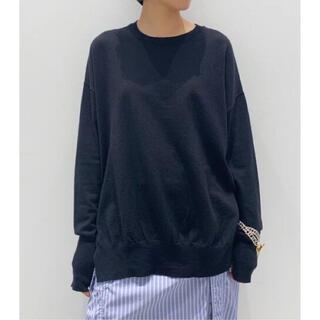 アパルトモンドゥーズィエムクラス(L'Appartement DEUXIEME CLASSE)の新品未使用☆アパルトモン☆ side slit knit /ネイビー(ニット/セーター)