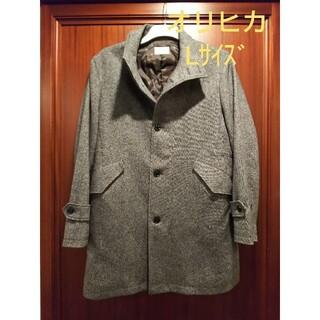 オリヒカ(ORIHICA)の再値下 コート ツイード ブラック オリヒカ パーカー(ステンカラーコート)