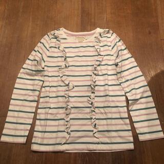 ボーデン(Boden)の新品未使用 Boden フリルボーダーカットソー 9-10y(Tシャツ/カットソー)