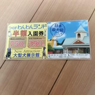 つくばわんわんランド 半額入園券 1枚(遊園地/テーマパーク)